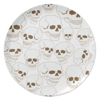 seamless pattern with skulls 3.2 dinner plate