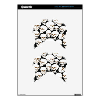 seamless pattern with skulls 3.2 xbox 360 controller skin