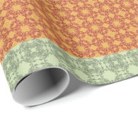 Seamless pattern yellow, blue, green and brown gift wrap