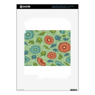 Seamless patterns design decal for iPad 3