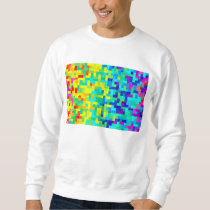 Seamless Pixel Pattern Background as an Artistic Sweatshirt