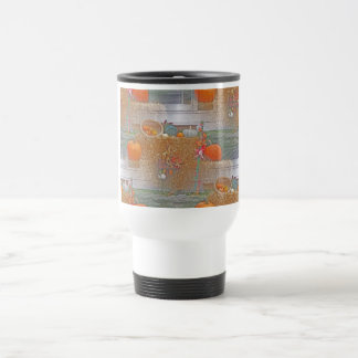 Seamless Pumpkins on Haystack Travel Mug