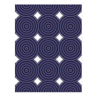 Seamless Purple Concentric Circles Pattern Postcard