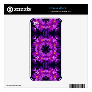 Seamless purple flowers iPhone 4S decals