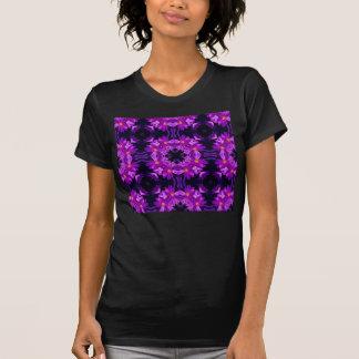 Seamless purple flowers tshirt