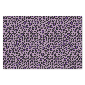 Seamless Purple Jaguar Wild Cat Animal  Print Tissue Paper