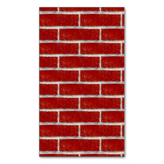 Seamless Red Brick 3 squared large.jpg Magnetic Business Cards (Pack Of 25)
