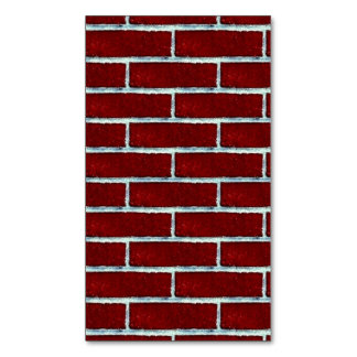 Seamless Red Brick 4 squared large.jpg Magnetic Business Cards (Pack Of 25)