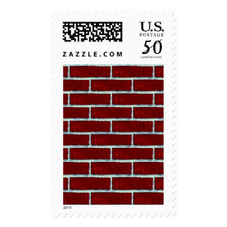 Seamless Red Brick 4 squared large.jpg Postage