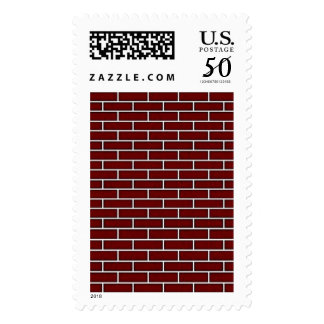 Seamless Red Brick squared.jpg Postage