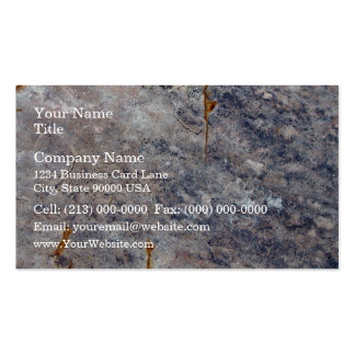 Seamless Rock Texture with Lichens Business Card Template