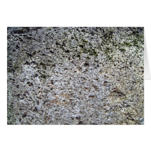Seamless Rock Texture with moss Greeting Card