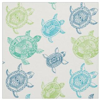 Seamless Sea Turtles Pattern Fabric