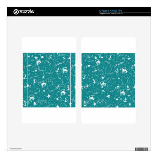 Seamless Seascape Decals For Kindle Fire