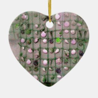 Seamless Seashells Themed Merchandise Ceramic Ornament