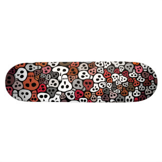 Seamless Skulls background Skateboard Deck