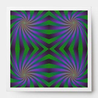 Seamless spiral pattern envelopes