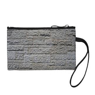 Seamless Stone Brick Wall Change Purses