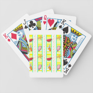 Seamless summer bicycle playing cards