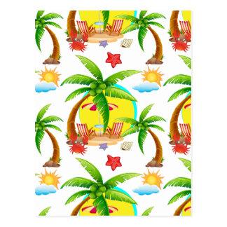 Seamless summer postcard