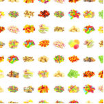Seamless Sweets and Candy Pattern Background Cutout