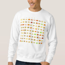 Seamless Sweets and Candy Pattern Background Sweatshirt