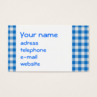 seamless texture of blue and white blocked tart... business card