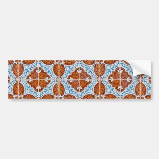 Seamless tile pattern bumper sticker