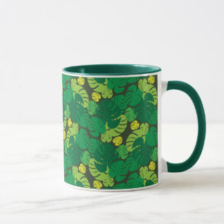 Seamless Tropical Palm Leaves Mug