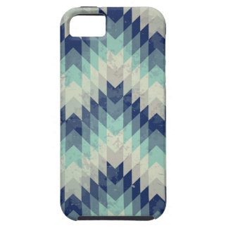 Seamless vector chevron pattern blue iPhone 5 cover