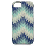 Seamless vector chevron pattern blue iPhone 5 case