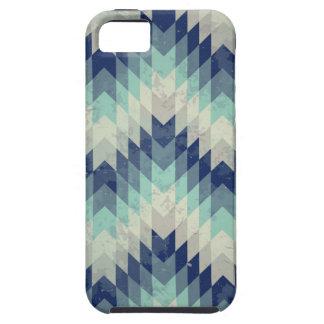 Seamless vector chevron pattern blue iPhone SE/5/5s case