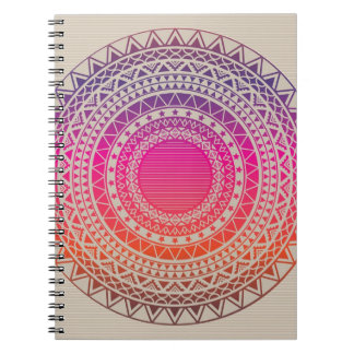 Seamless vector tribal texture spiral note books