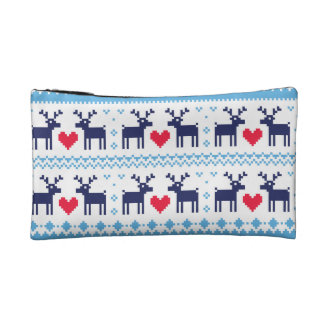 Seamless winter pattern Christmas bag Cosmetic Bag