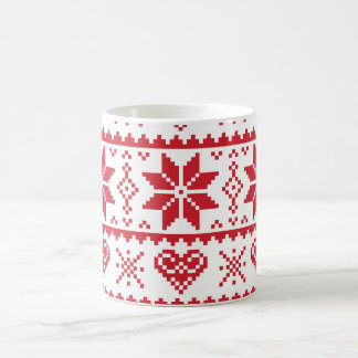 Seamless winter pattern Christmas mug