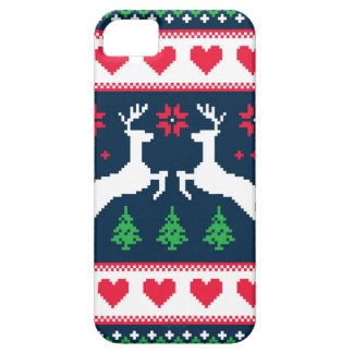 Seamless winter pattern Christmas smartphone case iPhone 5 Cases