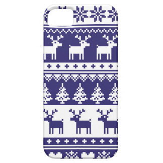 Seamless winter pattern Christmas smartphone case, iPhone 5 Cover
