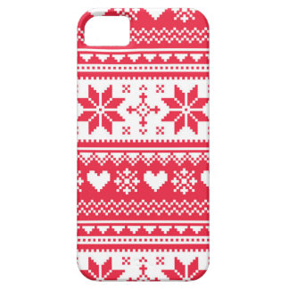 Seamless winter pattern Christmas smartphone case iPhone 5 Covers