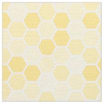 Seamless Yellow Honey Comb Pattern Fabric
