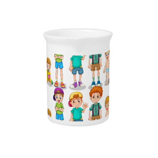 Seamless young boys beverage pitcher