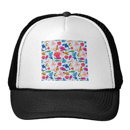 SeamlessBackgroundwithTheFishesinTheSea_thumb Mesh Hat
