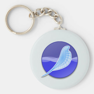 SeaMonkey Logo Basic Round Button Keychain