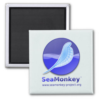 SeaMonkey Project - Vertical Logo 2 Inch Square Magnet