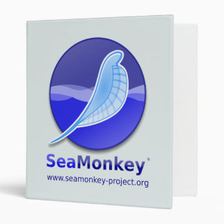 SeaMonkey Project - Vertical Logo 3 Ring Binder