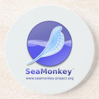 SeaMonkey Project - Vertical Logo Beverage Coaster