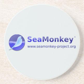 SeaMonkey Project - Vertical Logo Drink Coaster