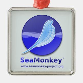 SeaMonkey Project - Vertical Logo Metal Ornament
