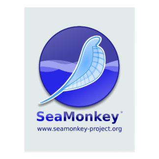 SeaMonkey Project - Vertical Logo Postcard