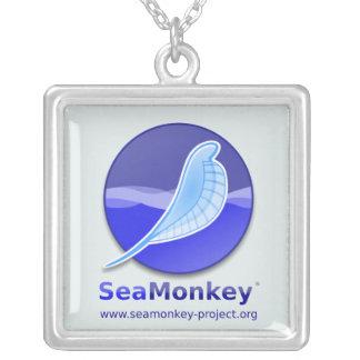 SeaMonkey Project - Vertical Logo Square Pendant Necklace