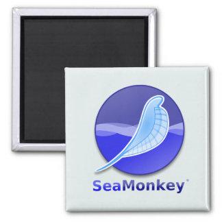 SeaMonkey Text Logo 2 Inch Square Magnet